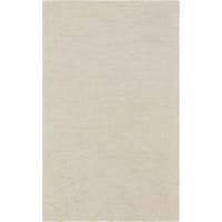 Hand-crafted Ivory Solid Causal Calais Area Rug - 8' X 11'