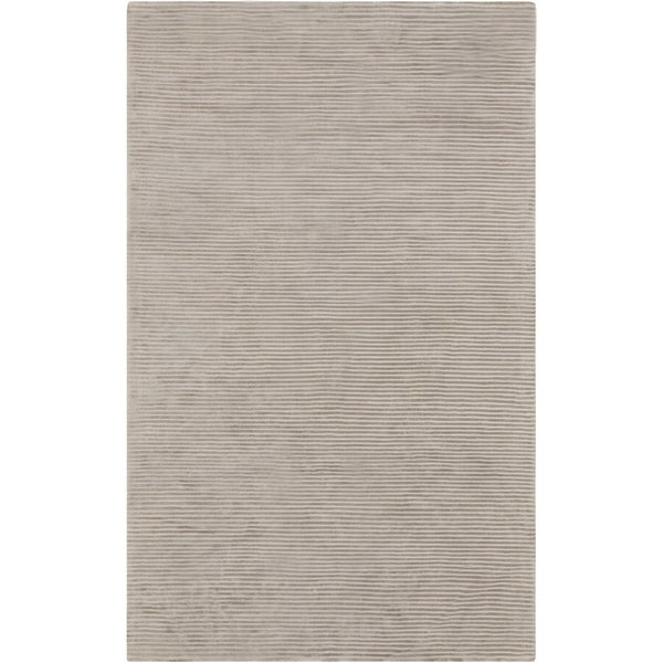 Hand-crafted Beige Solid Casual Cabot Area Rug - 5' x 8'