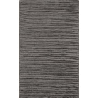Hand-crafted Brown Solid Casual Dorset Rug (3'3 x 5'3)