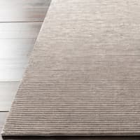 Hand-crafted Brown Solid Casual Dorset Area Rug - 3'3 x 5'3