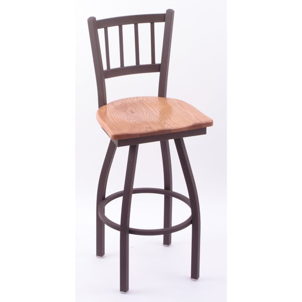 Cambridge Bronze/ Medium Oak Extra Tall Bar Stool