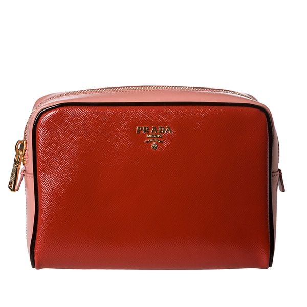 Prada 'Vernice' Saffiano Patent Leather Cosmetic Bag