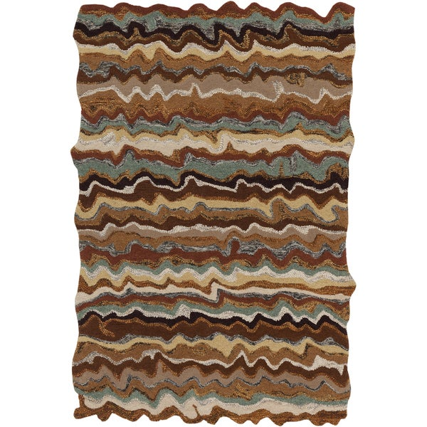 Hand-tufted Fayston Brown Novelty Wool Area Rug - 5' x 8'