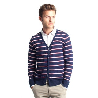 Navy 191 Unlimited Men's Striped Cardigan
