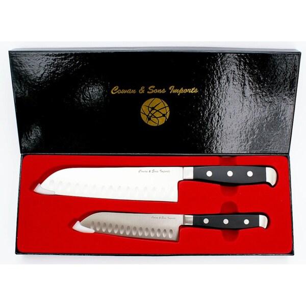 Santoku Stainless Steel 2-piece Knife Set