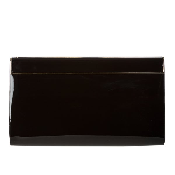 Jimmy Choo 'Cayla' Black Patent Leather Clutch