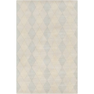 Allie Handmade Geometric Indoor Wool Rug (5' x 7'6)
