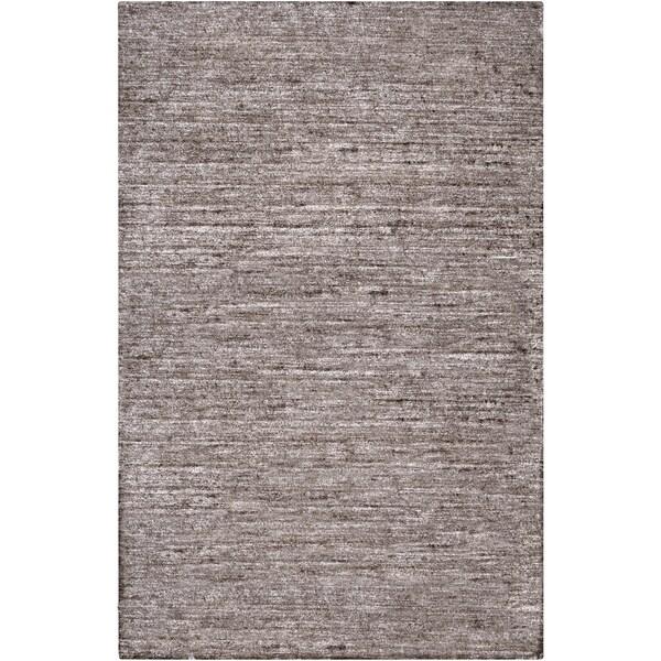 Hand-woven Solid Grey Casual Marlboro Area Rug - 8' x 11'