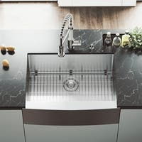 VIGO Bedford 30-inch Stainless Steel Kitchen Sink, Grid and Strainer