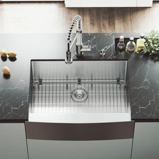 Kitchen sinks for less overstock vigo 30 inch bedford stainless steel farmhouse sink grid and strainer workwithnaturefo