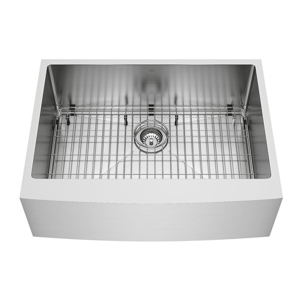 Ordinaire VIGO 30 Inch Bedford Stainless Steel Farmhouse Sink, Grid And Strainer