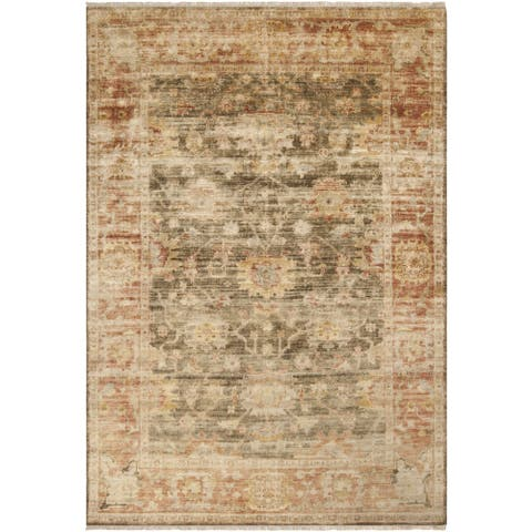 """Hand-knotted Pownal Brown Wool Area Rug - 3'6"""" x 5'6"""""""