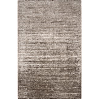 Hand-woven Solid Grey Casual Orwell Rug (8' x 11')