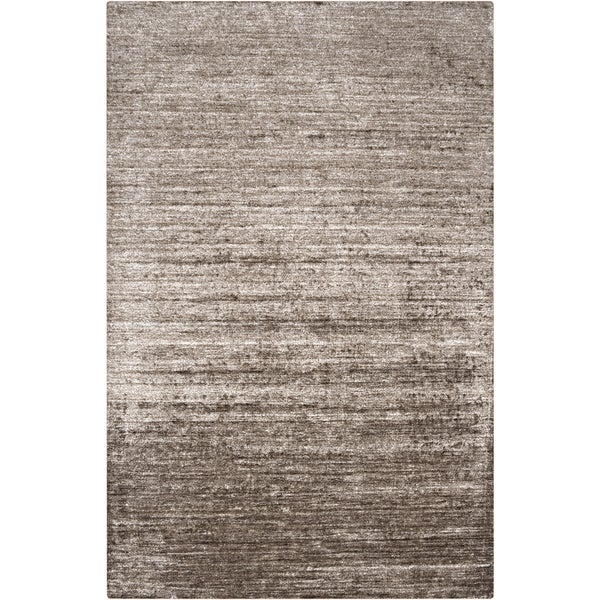Hand-woven Solid Grey Casual Orwell Area Rug (8' x 11')