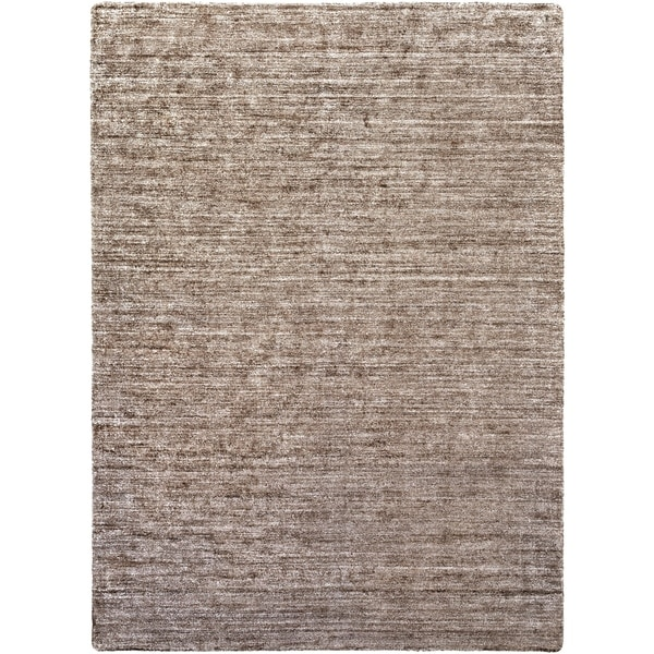 Hand-woven Solid Grey Casual Orwell Area Rug - 8' x 11'