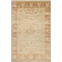Hand-knotted Royalton Beige Wool Area Rug (2' x 3')