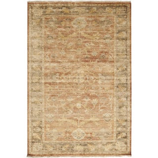 Hand-knotted Stannard Orange Wool Rug (9' x 13')