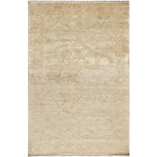 Hand-knotted Stowe Beige Wool Area Rug (5'6 x 8'6)