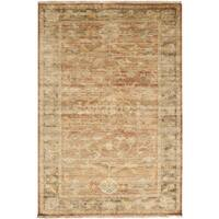 Hand-knotted Stannard Orange Wool Area Rug - 2' x 3'