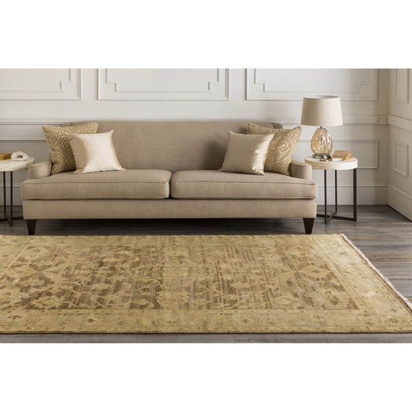 Hand-knotted Tinmouth Brown Wool Rug (2' x 3')