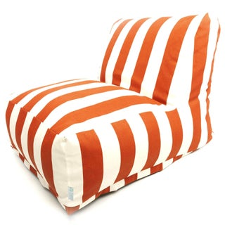 Indoor/Outdoor Vertical Stripe Bean Bag Chair Lounger (Option: Burnt Orange)