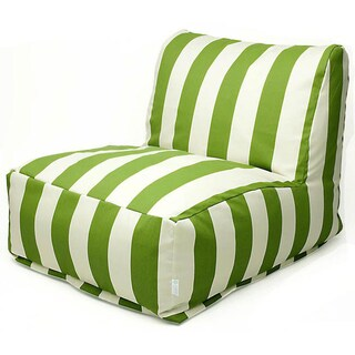 Indoor/Outdoor Vertical Stripe Bean Bag Chair Lounger (Option: Sage)