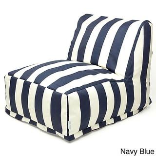 Indoor/Outdoor Vertical Stripe Bean Bag Chair Lounger