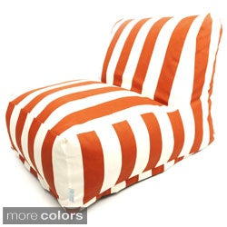Indoor/Outdoor Vertical Stripe Bean Bag Chair Lounger