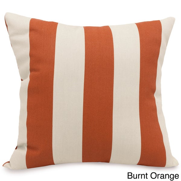 Indoor/Outdoor Majestic Home Goods Vertical Stripe Large Square Pillow