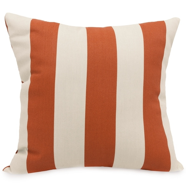 Majestic Home Goods Vertical Stripe Indoor Outdoor Large Pillow 20 L X 8