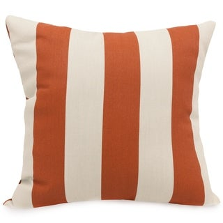 Indoor/Outdoor Majestic Home Goods Vertical Stripe Large Square Pillow - Free Shipping On Orders ...