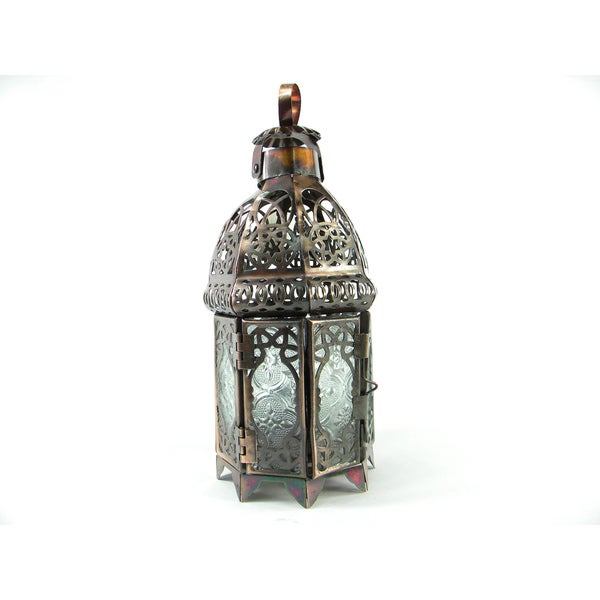 Copper Toned Moroccan Candle Lamp/Lantern
