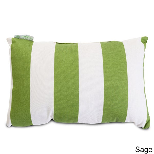 Indoor Outdoor Majestic Home Goods Vertical Stripe Small Pillow