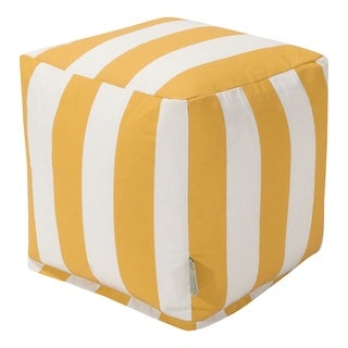 Indoor/Outdoor Majestic Home Goods Vertical Stripe Small Cube Pillow