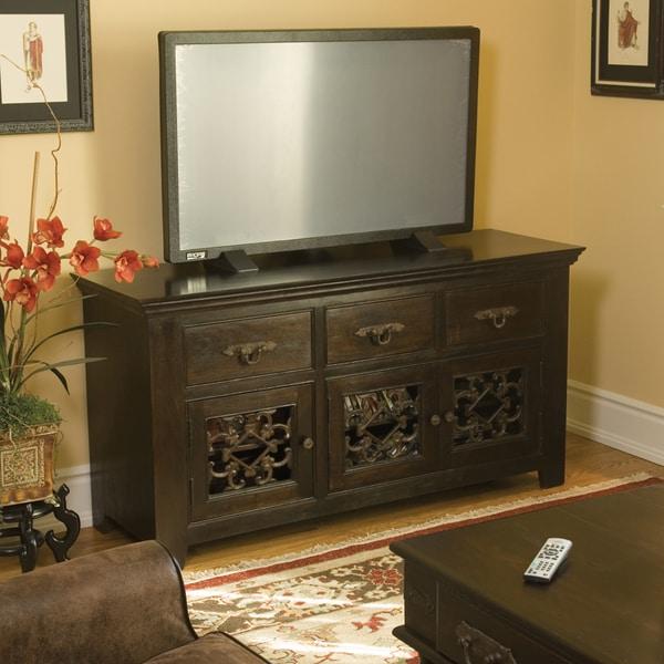 Kosas Home Venice Dark Mahogany 3-drawer/ 3-door TV Stand