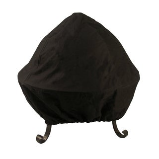 30-inch Black Screened Vinyl Fire Pit Cover