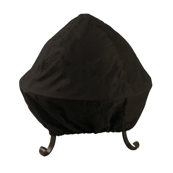 35-inch Black Screened Vinyl Fire Pit Cover