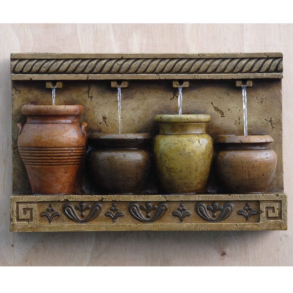 Outdoor Water Fountains Home Depot: Shop Colorful Pots Wall Water Fountain