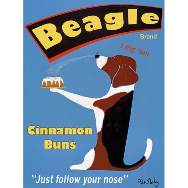 Ken Bailey 'Beagle Buns' Paper Print (Unframed)