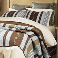 Copper Grove Amaryllis Striped 3-piece Quilt Set