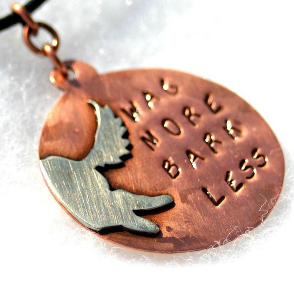 My Three Metals Copper 'Wag More Bark Less' Necklace
