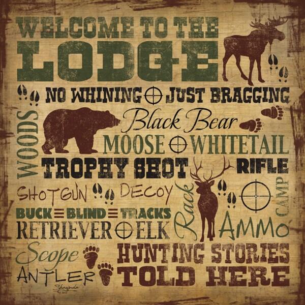 Shawnda Eva 'Welcome to the Lodge' Paper Print (Unframed)