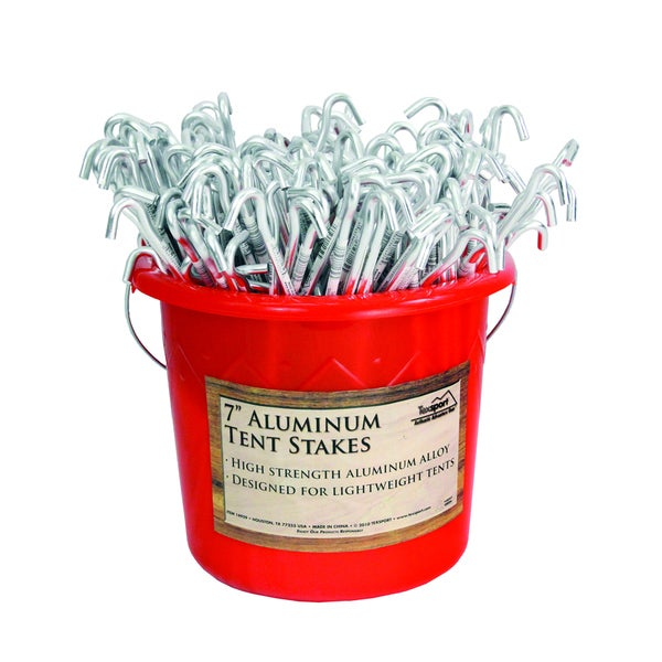Texsport Aluminum 7-inch Tent Stakes (Set of 200) in Bucket
