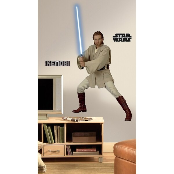 Star Wars Episodes 1-3 ObiWan Peel & Stick Giant Wall Decal