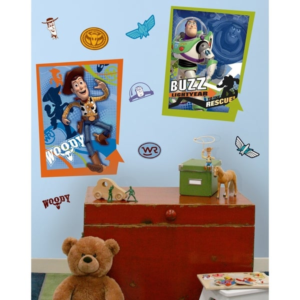 Toy Story Buzz and Woody Peel & Stick Giant Poster Wall Decals