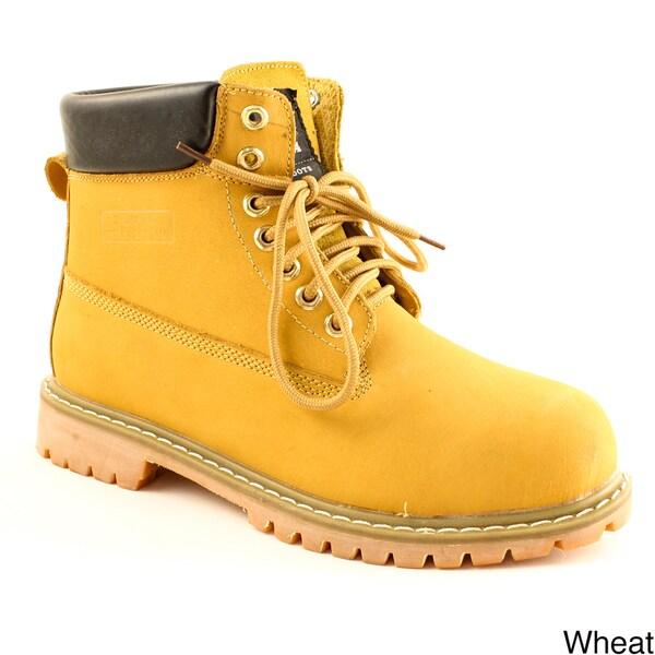 Zotas Men's Leatherette Lace-up Boots