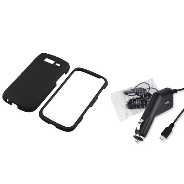 INSTEN Black Phone Case Cover/ Car Charger for Samsung Galaxy S Blaze 4G T769