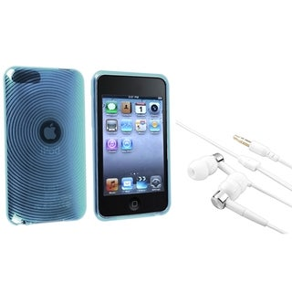 INSTEN Blue TPU iPod Case Cover/ Headset for Apple iPod Touch Generation 2/ 3