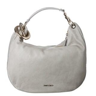Jimmy Choo 'Solar' Pearl Grey Calf Leather Hobo Bag