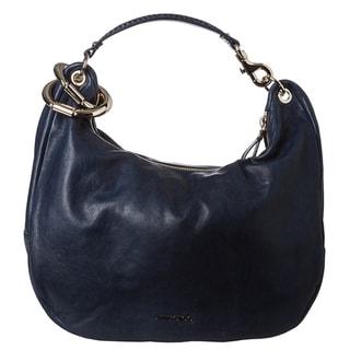 Jimmy Choo 'Solar' Navy Calf Leather Hobo Handbag